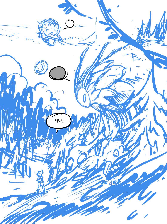 Les Géants, rough de la planche 23 d'Erin © Glénat / Drouin / Lylian / Lorien