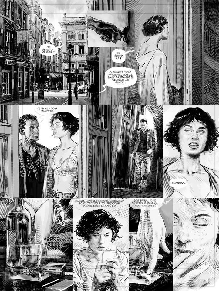 Maudit sois-tu, planche 25 du tome 1, version n&b © Ankama / Puerta / Pelaez