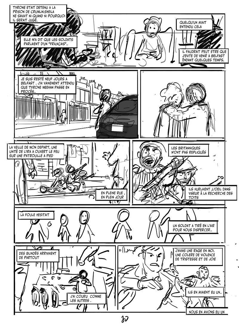 Mon Traître, storyboard de la planche 30 © Pierre Alary