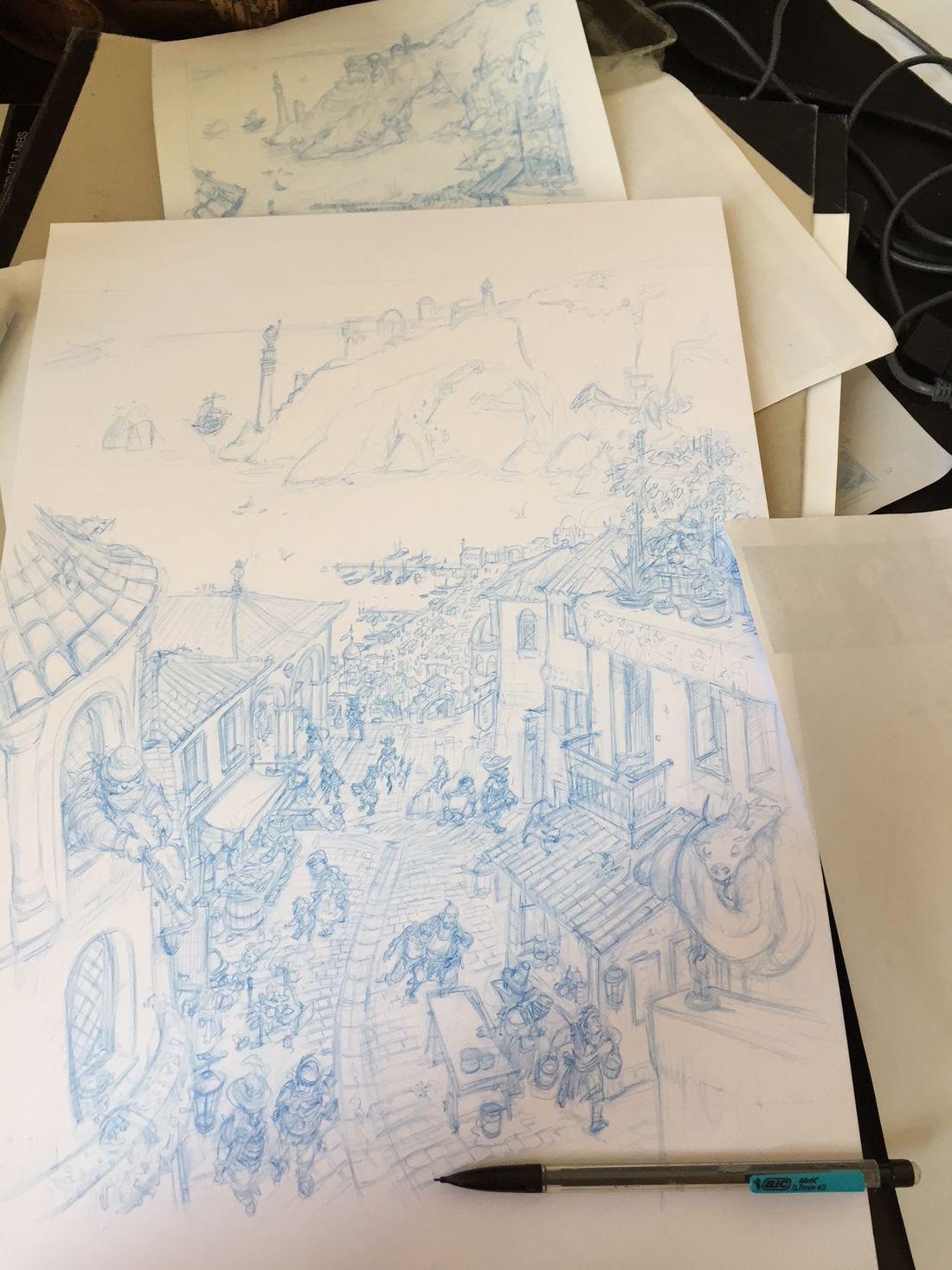 Dragon & Poisons, work in progress © Rebecca Morse