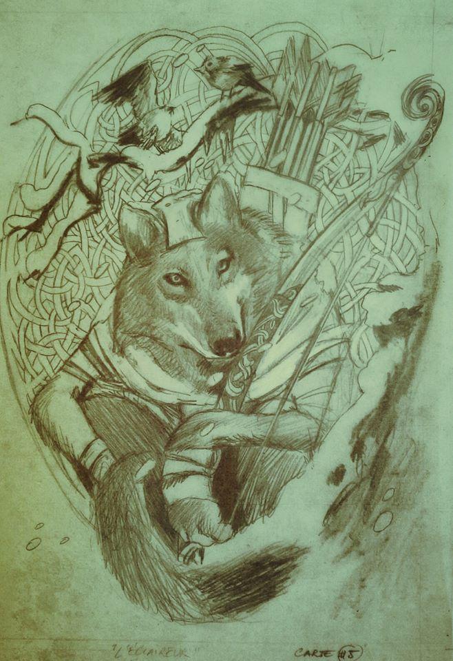 Harald, crayonné de l'éclaireur © Runes Editions / Civiello