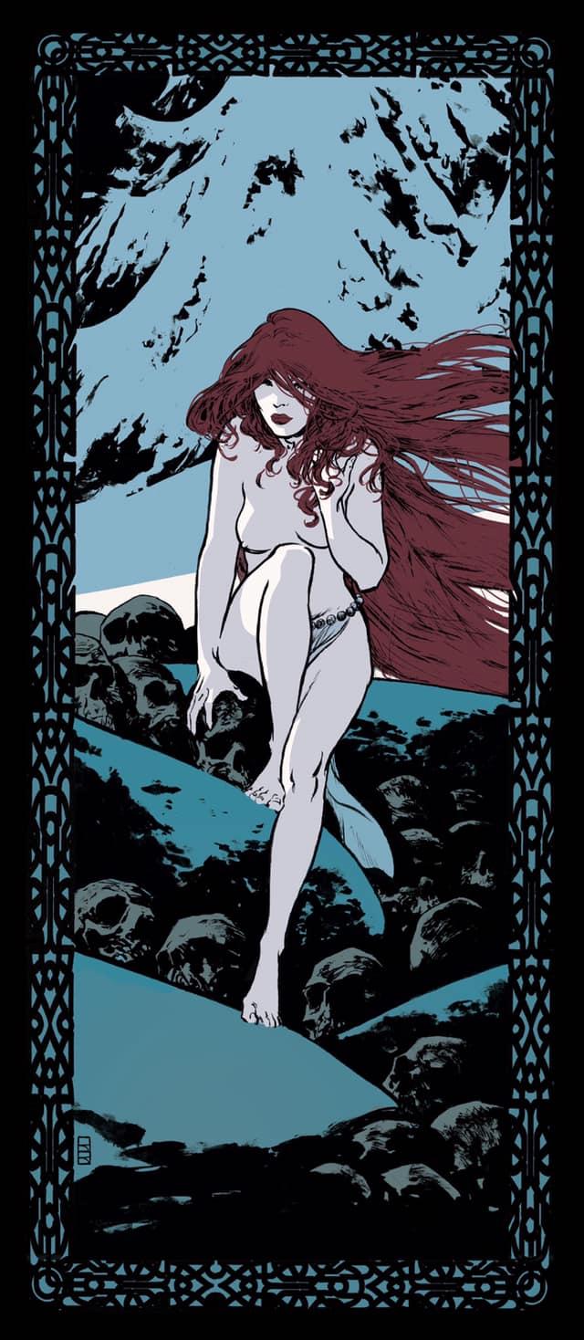 La fille du Géant de Gel, ex libris pour les Editions Black & White © Robin Recht