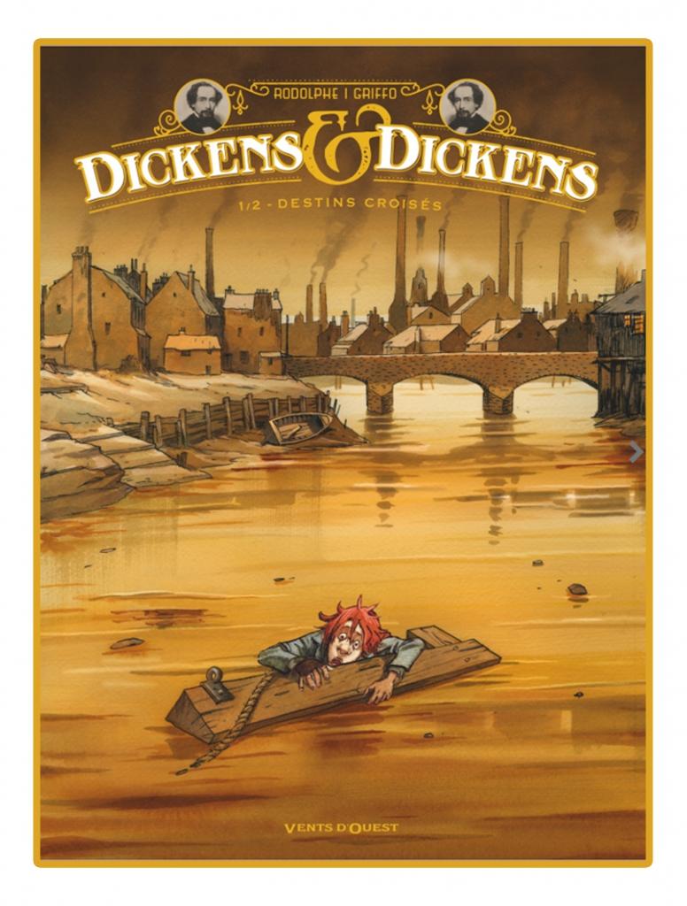 projet de couverture du tome 1 de Dickens & Dickens © Vents d'Ouest / Griffo / Rodolphe