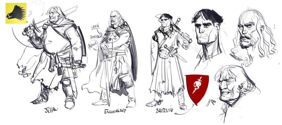 Le Roy des Ribauds, trois chevaliers © Ronan Toulhoat