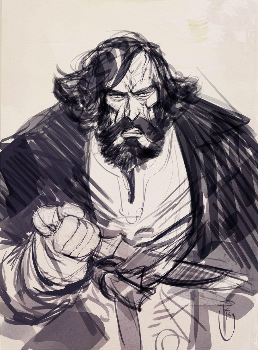 Le Roy des Ribauds, illustration pour un ex-libris © Ronan Toulhoat