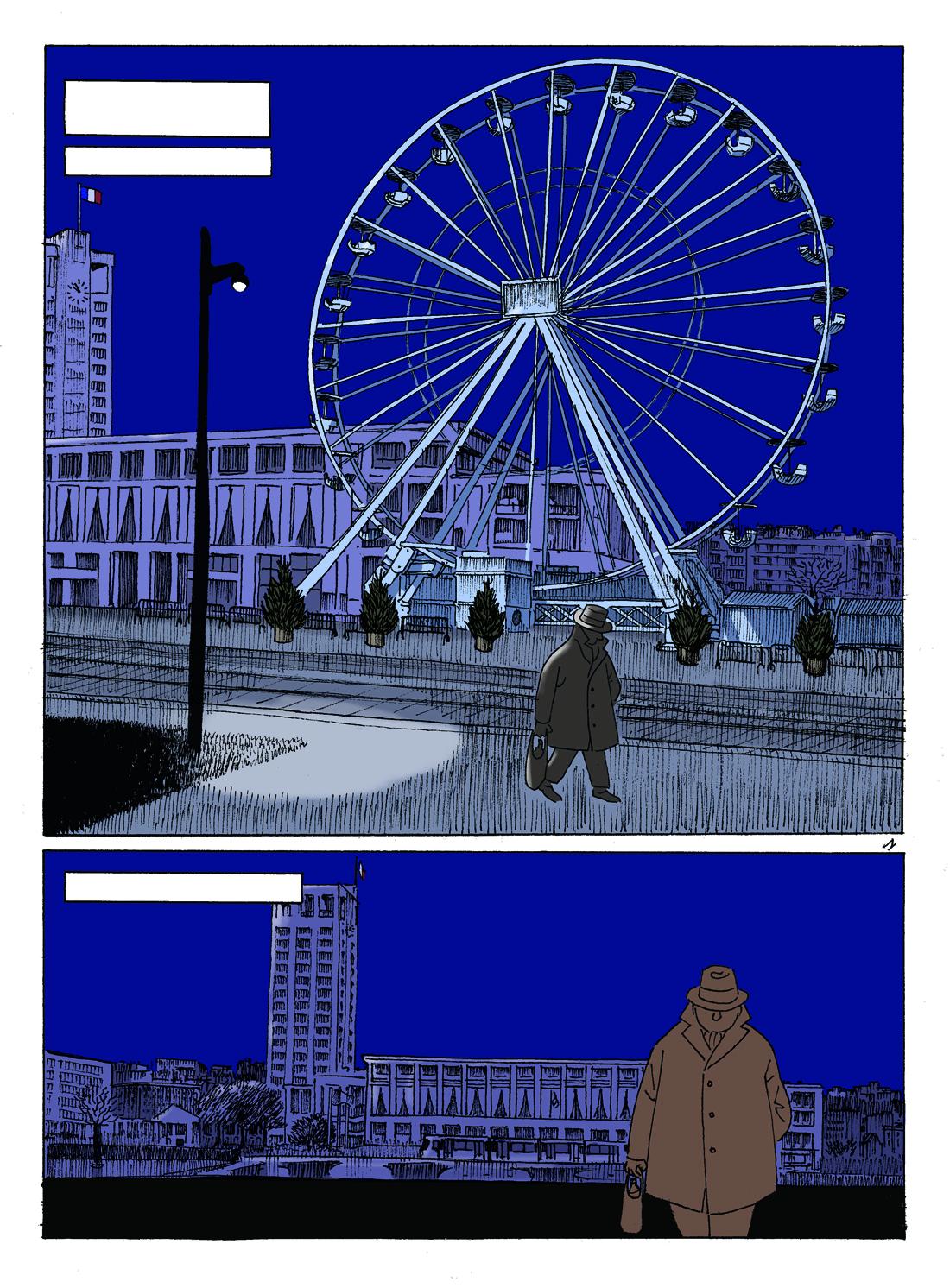 30 ans d'édition, par Sébastien Gnaedig, Epilogue: Mister Nobody. Mise en couleur de la planche 1 de Mister Nobody