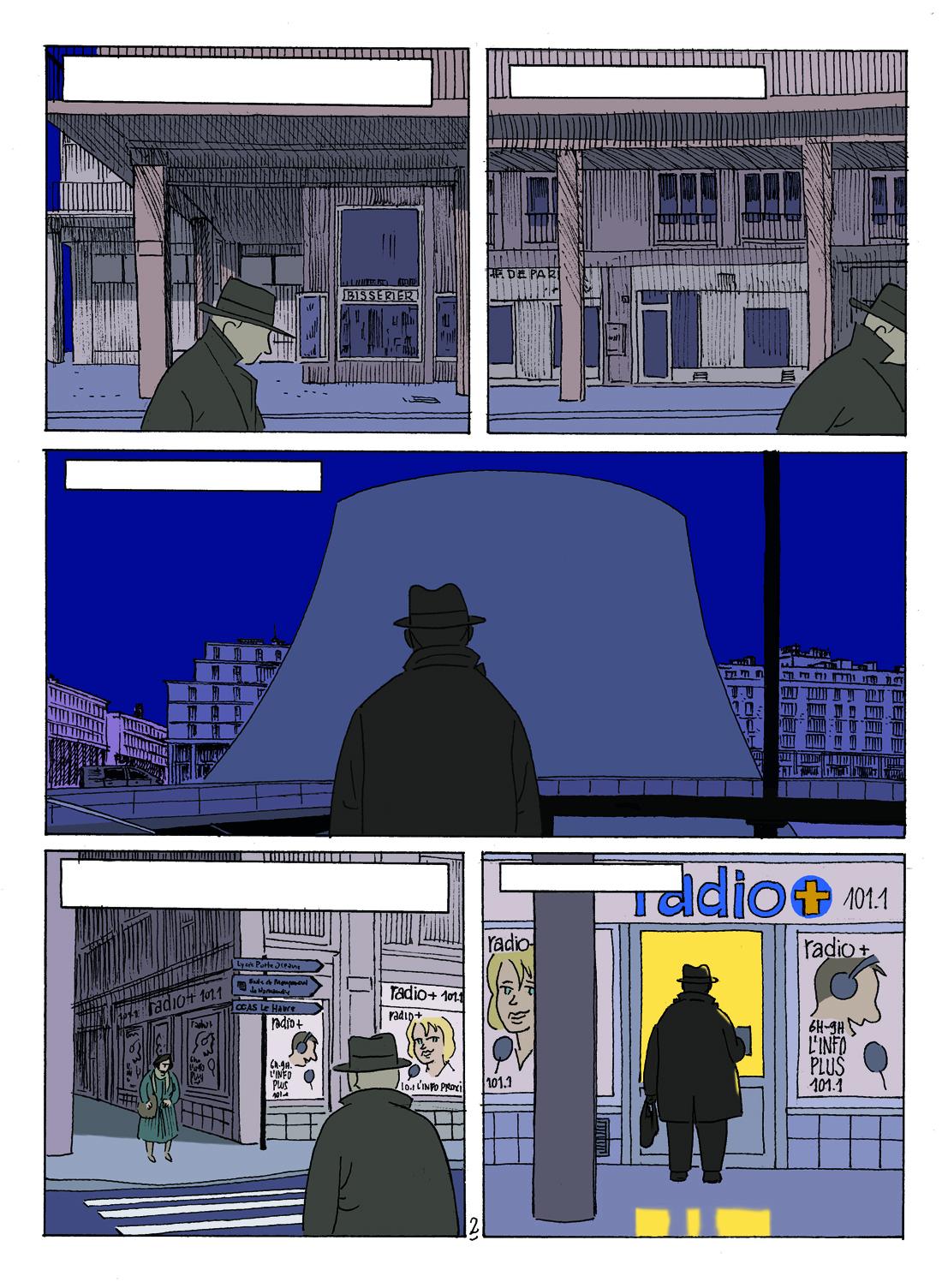 30 ans d'édition, par Sébastien Gnaedig, Epilogue: Mister Nobody. Colorisation de la planche 2 de Mister Nobody