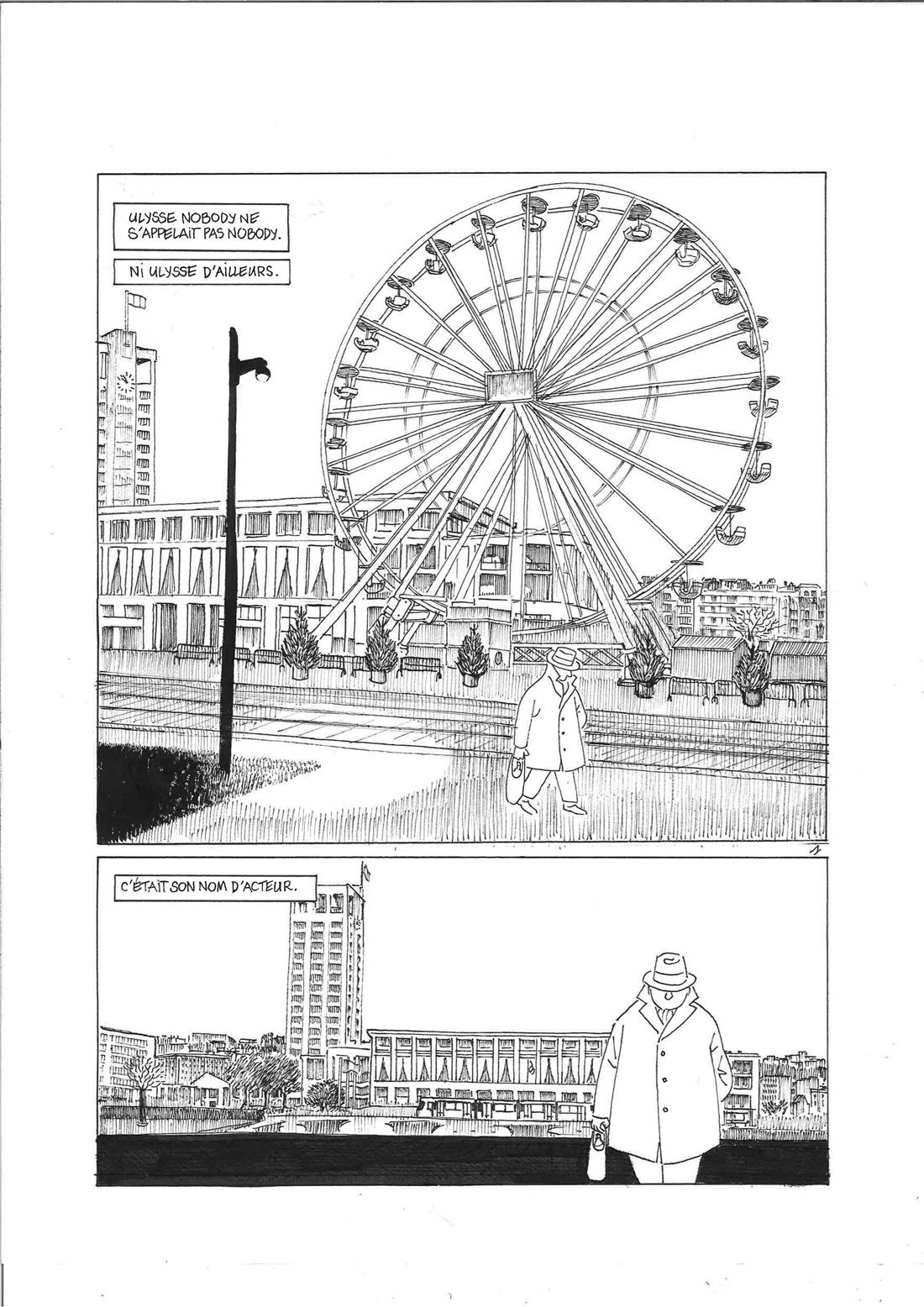 30 ans d'édition, par Sébastien Gnaedig, Epilogue: Mister Nobody. Planche 1 de Mister Nobody