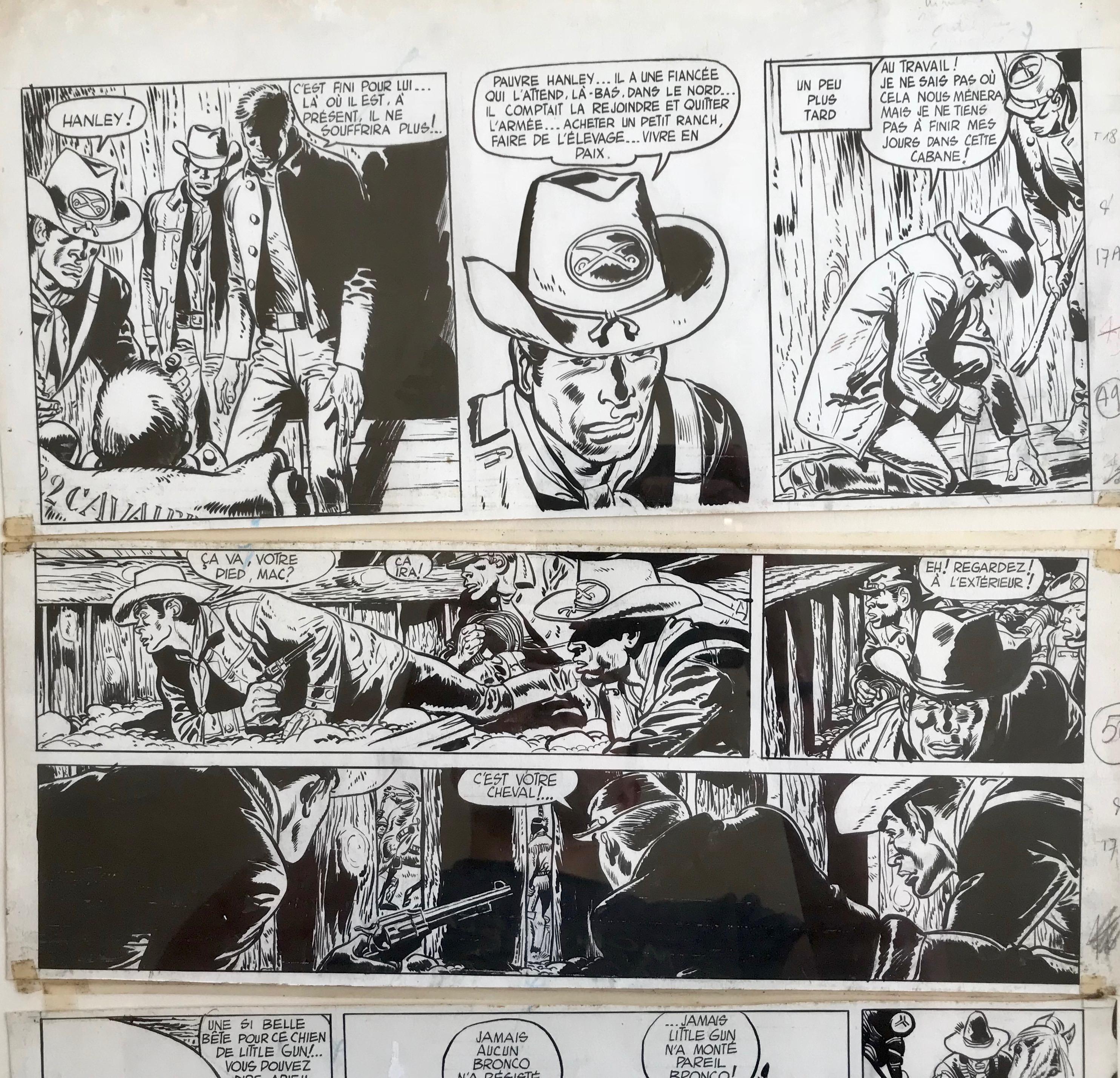 30 ans d'édition, par Sébastien Gnaedig. Les Trésor de la BD. #1: Jerry Spring, Le duel, planche 17 par Jijé