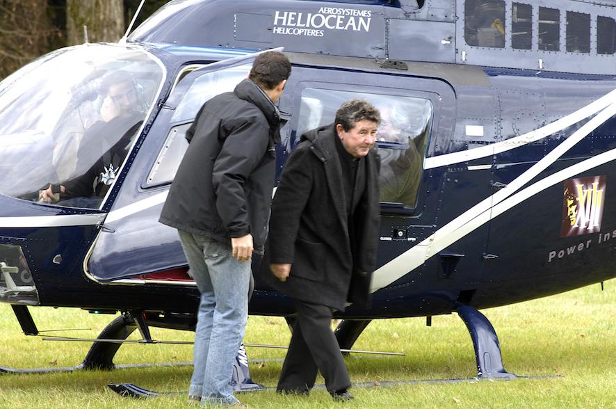 Arrivée en hélicoptère de Vance, Giraud et Van Hamme -Epau 2007