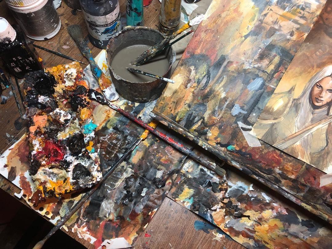 l'atelier de Sébastien Grenier