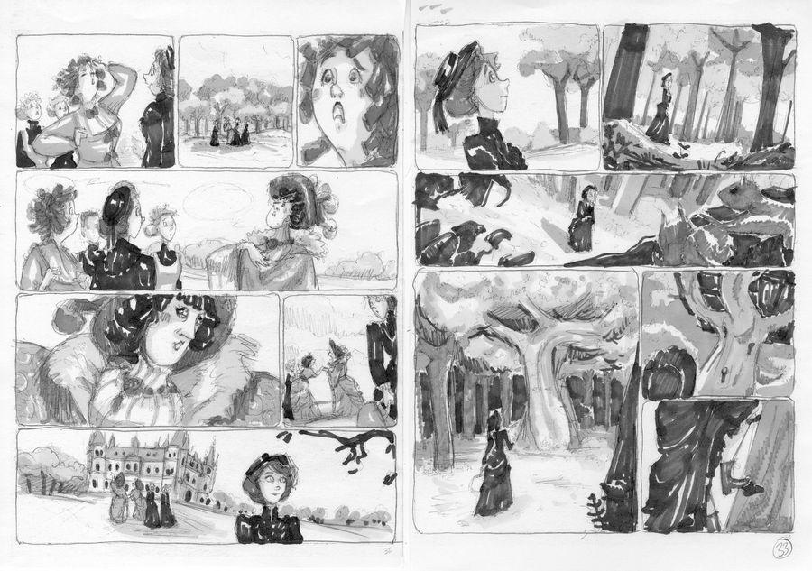 Les Enquêtes d'Enola Holmes, rough de l'album © Serena Blasco