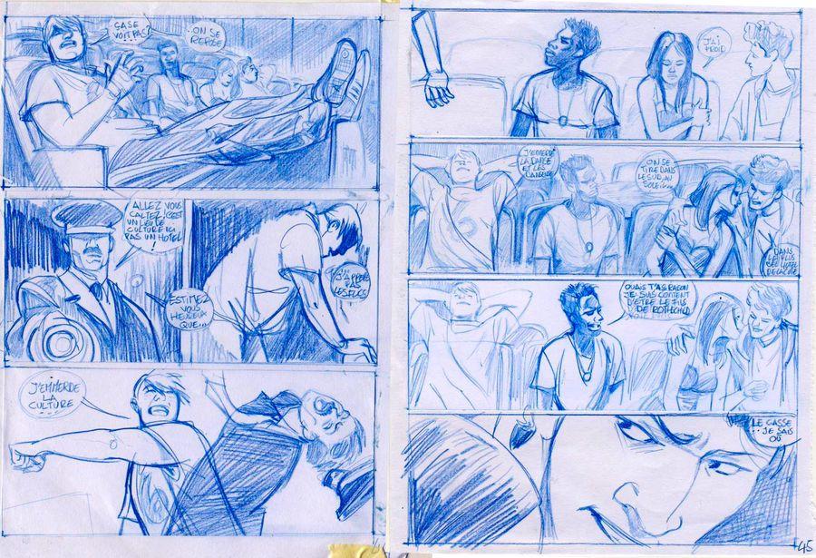 Ordures, crayonné de l&#39album © Cinna