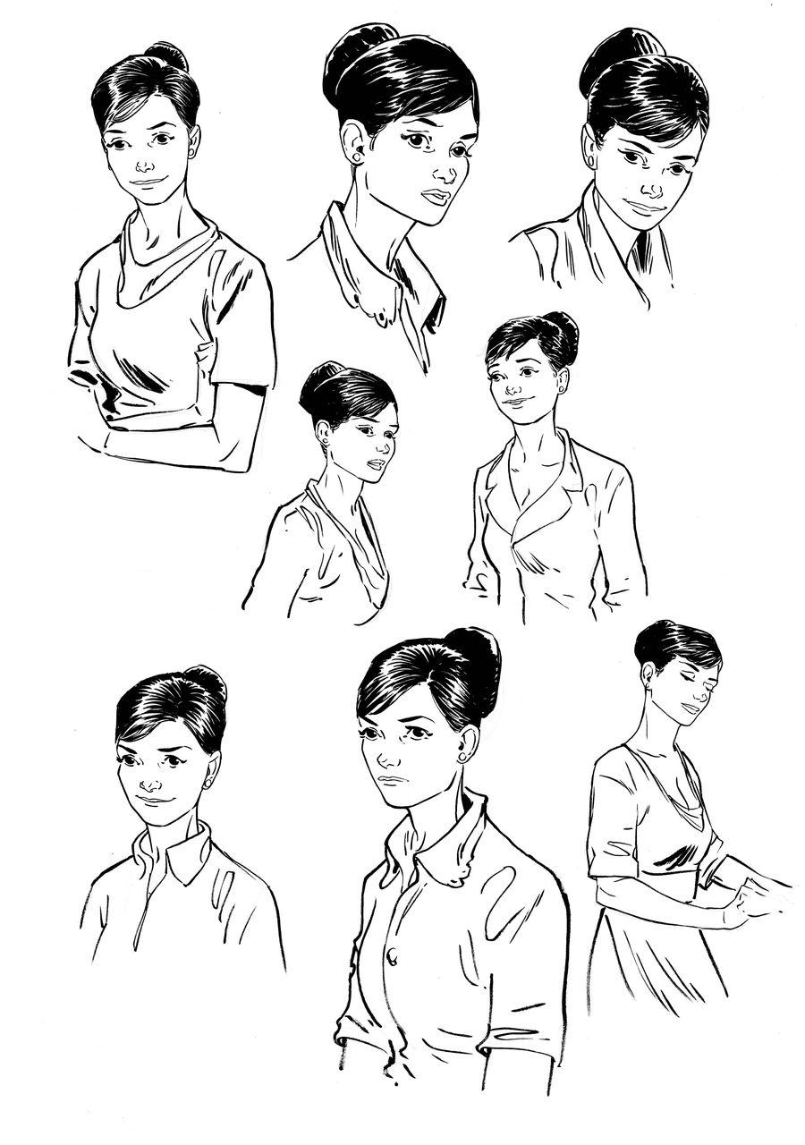 L&#39île des justes, Suzanne, recherche de personnage © Espé