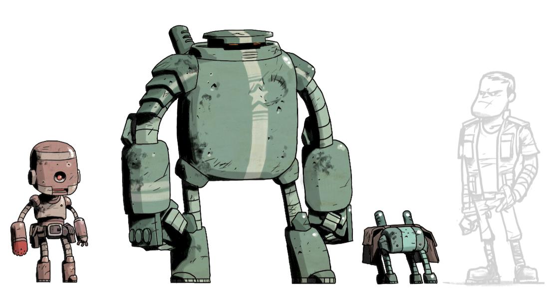 Bots, recherche de personnages © Steve Baker