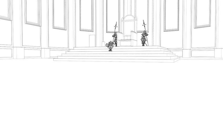 Robilar ou le Maistre Chat, modélisation des décors de la planche 2 du tome 2 © Sylvain Guinebaud
