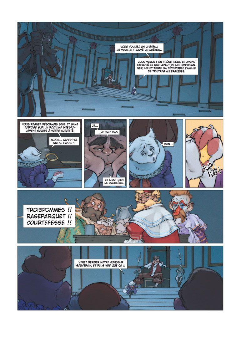 Robilar ou le Maistre Chat, version finale de la planche 2 du tome 2 © Delcourt / Sylvain Guinebaud / David Chauvel / Lou