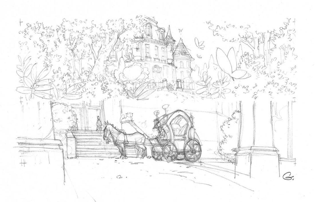Robilar ou le Maistre Chat, crayonné © Delcourt / Sylvain Guinebaud / David Chauvel / Lou