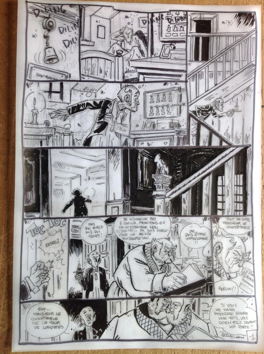 Les enquêtes de Lord Harold, douzième du nom, storyboard © Xavier Fourquemin